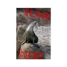 All about me sea lion Rectangle Magnet