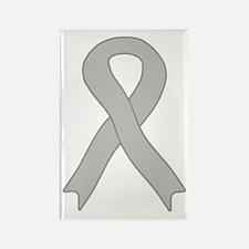 Gray Ribbon Rectangle Magnet