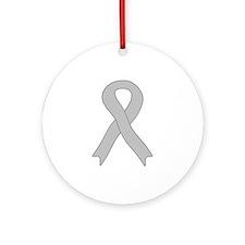 Gray Ribbon Ornament (Round)