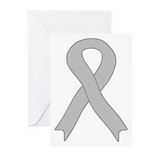 Gray Ribbon Greeting Cards (Pk of 10)