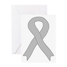 Gray Ribbon Greeting Card