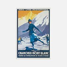 Vintage France Italy Postcard Rectangle Magnet