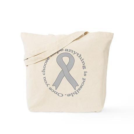 Gray Hope Tote Bag