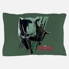 Black Panther Jumping Captain America Pillow Case