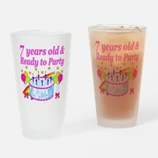 HAPPY 7TH Drinking Glass