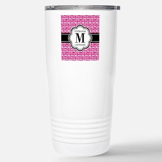 Pink Cute Owl Personali Stainless Steel Travel Mug