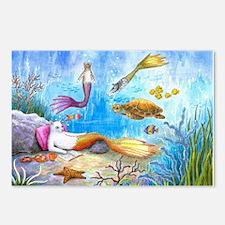 Cat Mermaid 31 Postcards (Package of 8)