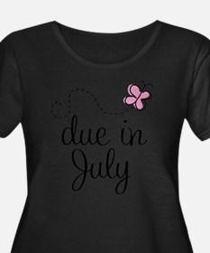 july-butterfly-pink Plus Size T-Shirt
