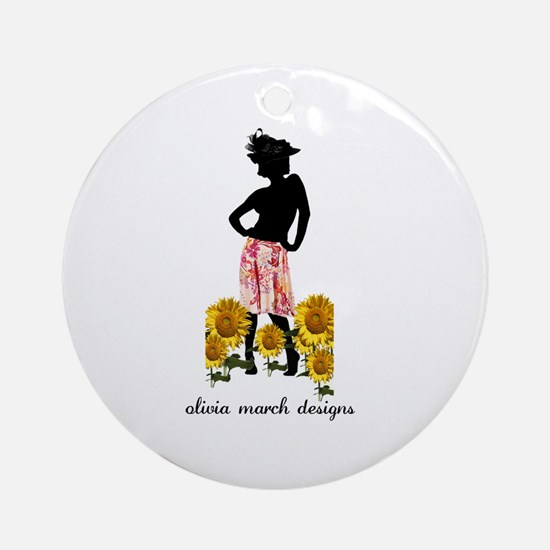 May Woman Ornament (Round)