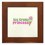 Ice Cream Princess Framed Tile