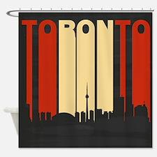 Vintage Toronto Cityscape Shower Curtain