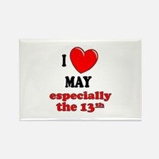May 13th Rectangle Magnet