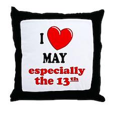 May 13th Throw Pillow
