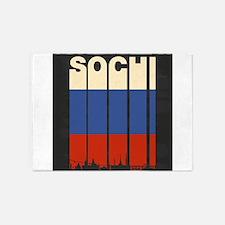 Vintage Sochi Cityscape 5'x7'Area Rug