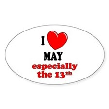 May 13th Oval Decal