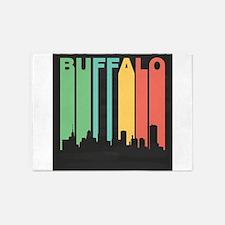 Vintage Buffalo Cityscape 5'x7'Area Rug