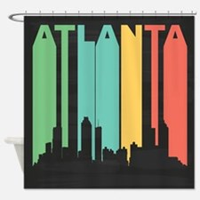 Vintage Atlanta Cityscape Shower Curtain