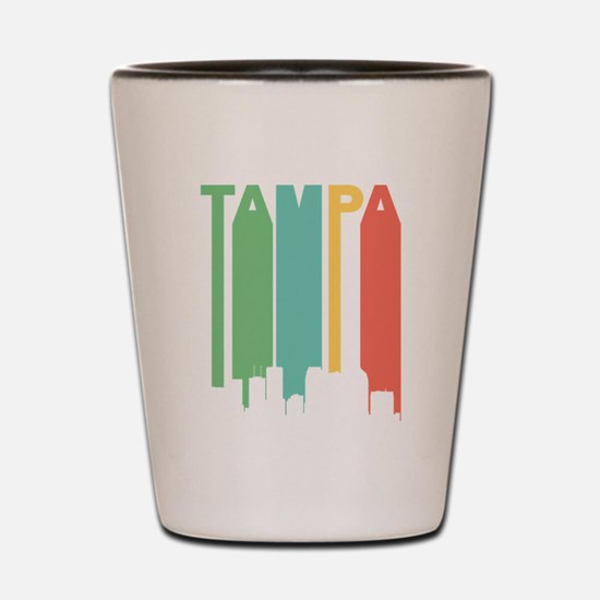 Vintage Tampa Cityscape Shot Glass
