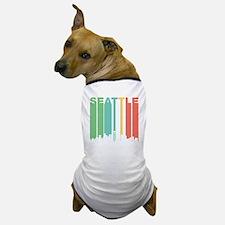 Vintage Seattle Cityscape Dog T-Shirt