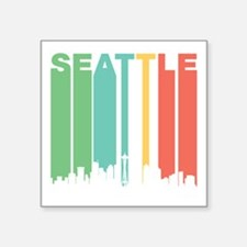 Vintage Seattle Cityscape Sticker