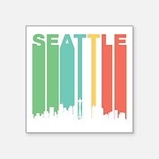 Vintage Seattle Cityscape Sticker