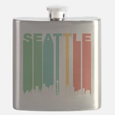 Vintage Seattle Cityscape Flask