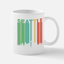 Vintage Seattle Cityscape Mugs