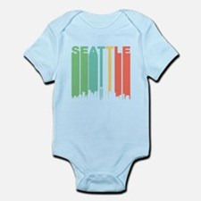 Vintage Seattle Cityscape Body Suit