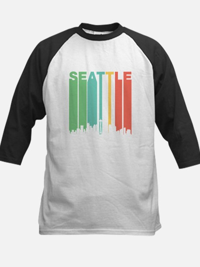Vintage Seattle Cityscape Baseball Jersey