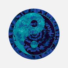 Purple Yin Yang Art Button