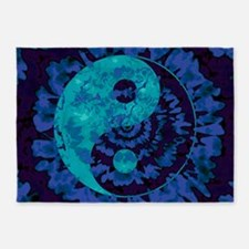 Purple Yin Yang Art 5'x7'Area Rug