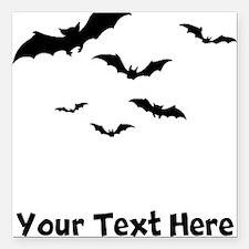 """Bats Flying (Custom) Square Car Magnet 3"""" x 3"""""""