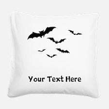 Bats Flying (Custom) Square Canvas Pillow