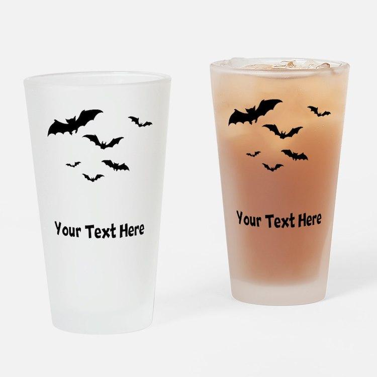 Bats Flying (Custom) Drinking Glass