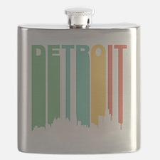 Vintage Detroit Cityscape Flask