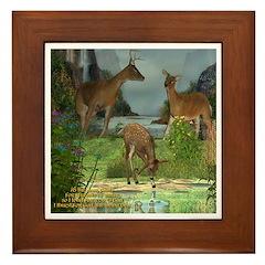 As the Deer Framed Tile