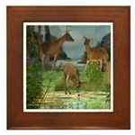 As the Deer Framed Tile