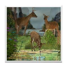 As the Deer Tile Coaster