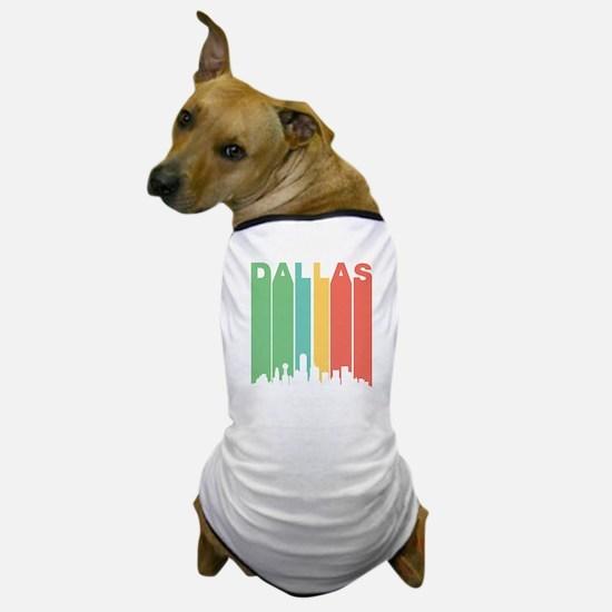 Vintage Dallas Cityscape Dog T-Shirt