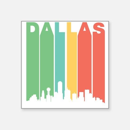 Vintage Dallas Cityscape Sticker