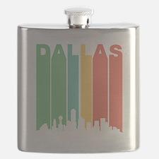 Vintage Dallas Cityscape Flask