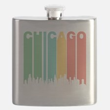 Vintage Chicago Cityscape Flask