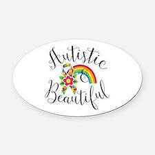 Autistic Oval Car Magnet