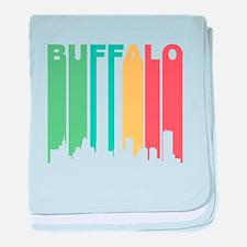 Vintage Buffalo Cityscape baby blanket
