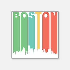 Vintage Boston Cityscape Sticker