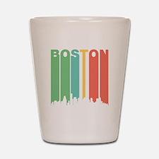 Vintage Boston Cityscape Shot Glass