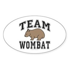 Team Wombat V Oval Decal