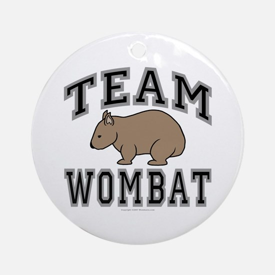 Team Wombat V Ornament (Round)