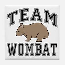 Team Wombat V Tile Coaster