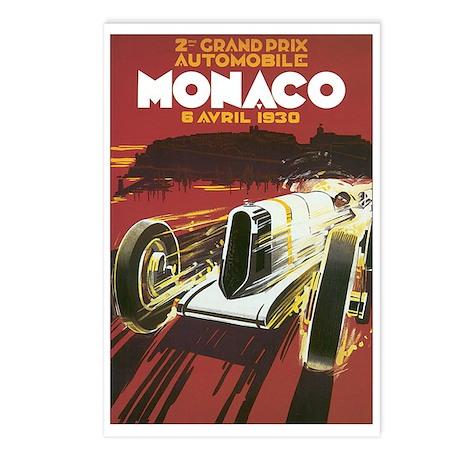 Monaco Race Car Postcards (Package of 8)
